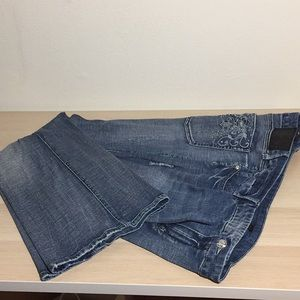 Seven7 distressed jeans with studs embroidery 26